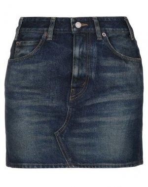 Джинсовая юбка CELINE. Цвет: синий