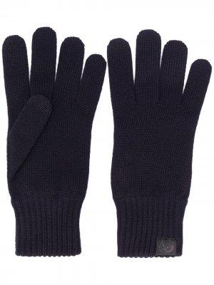 Трикотажные перчатки Diesel. Цвет: синий