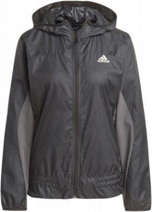 Ветровка женская adidas Designed To Move, размер 42-44. Цвет: черный