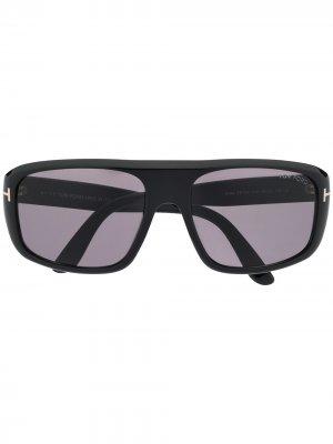 Солнцезащитные очки FT0754 в прямоугольной оправе TOM FORD Eyewear. Цвет: черный