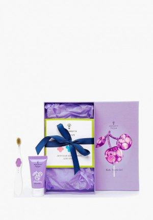 Набор для ухода за полостью рта Montcarotte Berry Kids Present Set (7 предметов) / детский Ягодка Вишня предметов), 5 мл * + 30. Цвет: разноцветный