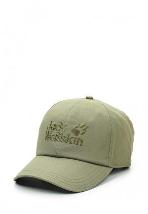 Бейсболка Jack Wolfskin BASEBALL CAP. Цвет: хаки