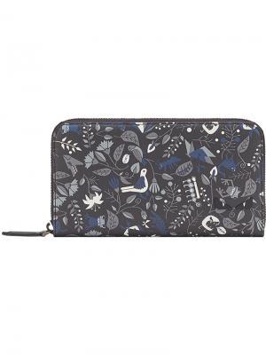 Printed zip around wallet Fendi. Цвет: черный