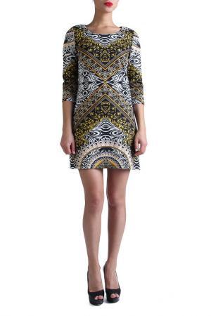 Платье EVA Milano. Цвет: мультицвет