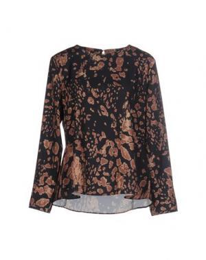 Блузка BONSUI. Цвет: черный