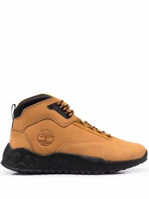 Массивные ботинки Timberland. Цвет: коричневый