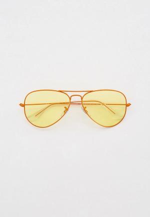Очки солнцезащитные Ray-Ban® RB3025 9220T4. Цвет: оранжевый