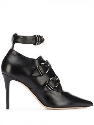 Туфли-лодочки с заостренным носком и пряжкой Deimille. Цвет: черный