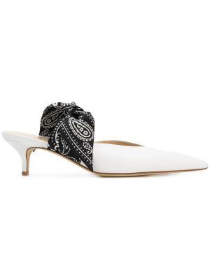 Туфли-лодочки с декором банданой Gia Couture