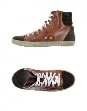 Высокие кеды и кроссовки ALLUMINIO. Цвет: коричневый