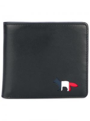 Бумажник с элементом лисы Maison Kitsuné. Цвет: чёрный