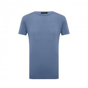 Льняная футболка Daniele Fiesoli. Цвет: синий