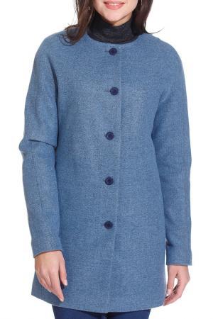 Пальто Gloss. Цвет: голубой