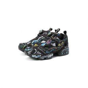 Комбинированные кроссовки Vetements. Цвет: чёрный