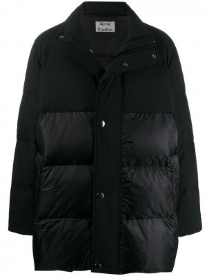 Пальто с капюшоном и контрастными вставками Acne Studios. Цвет: черный