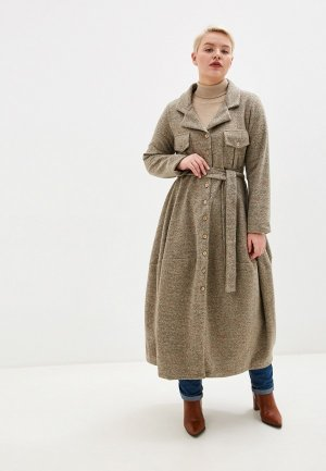 Пальто Kata Binska NADIN. Цвет: бежевый