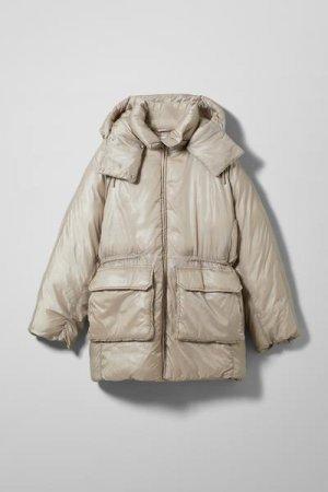 Утепленная куртка Martine Weekday. Цвет: бежевый