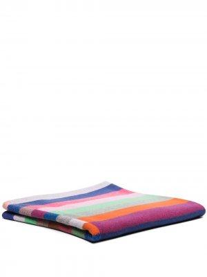 Одеяло Super Duper в полоску The Elder Statesman. Цвет: синий
