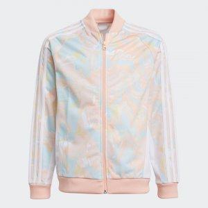 Олимпийка Marble Print SST Originals adidas. Цвет: белый