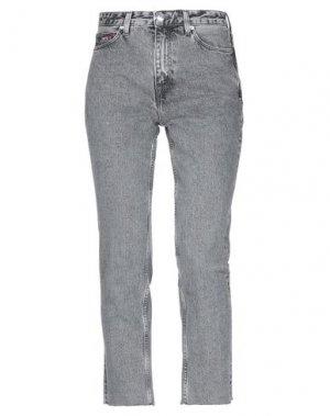 Джинсовые брюки-капри TOMMY JEANS. Цвет: серый