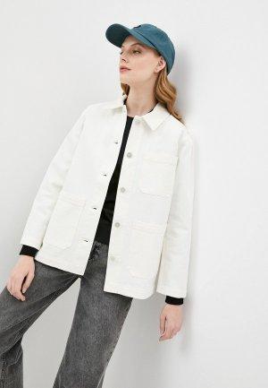 Куртка джинсовая Wood. Цвет: белый