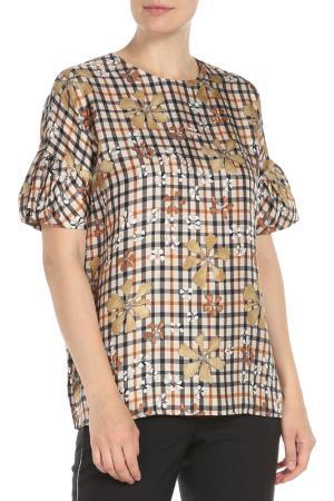 Блузка-топ DAKS. Цвет: коричневый