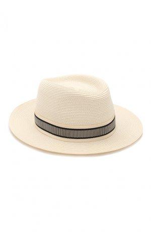 Шляпа Andre Maison Michel. Цвет: светло-бежевый
