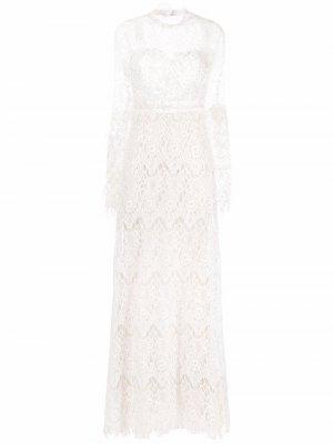 Свадебное платье с цветочным узором Loulou. Цвет: белый