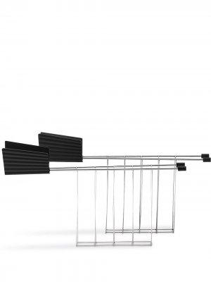 Набор решеток для тостера Plissé Alessi. Цвет: серебристый