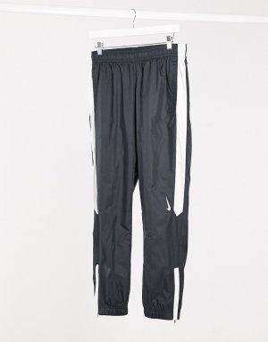 Черные джоггеры с кромкой манжетом -Черный Nike SB