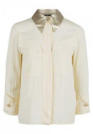 Рубашка ELISABETTA FRANCHI. Цвет: бежевый
