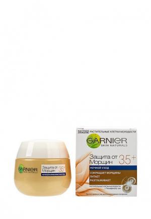 Крем для лица Garnier Антивозрастной уход, Защита от морщин 35+ против морщин, увлажняющий, ночной, 50 мл. Цвет: прозрачный