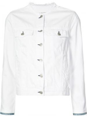 Джинсовая куртка Rag & Bone /Jean. Цвет: белый