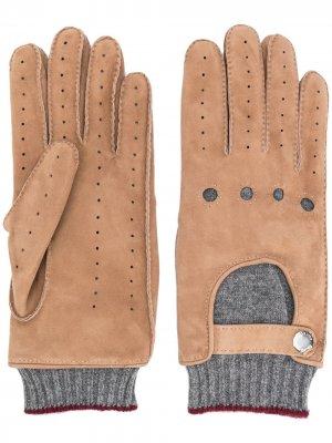 Перчатки со вставками Brunello Cucinelli. Цвет: нейтральные цвета
