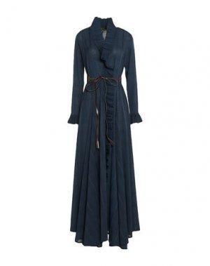 Длинное платье BABYLON. Цвет: темно-синий