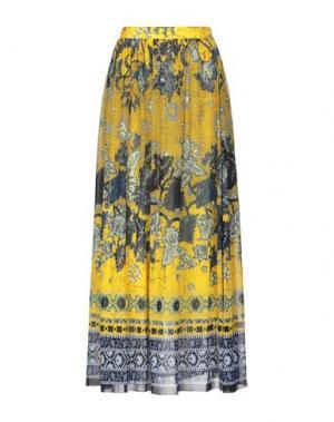 Длинная юбка FUZZI. Цвет: желтый
