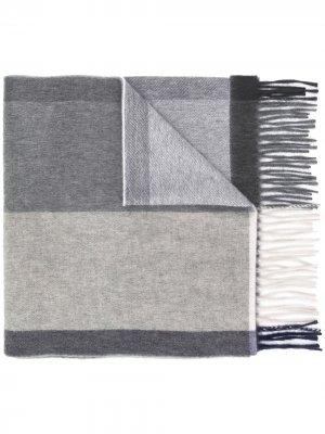 Кашемировый шарф в полоску Begg & Co. Цвет: синий