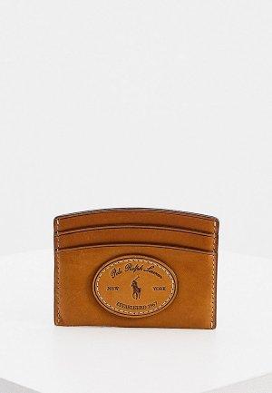 Кредитница Polo Ralph Lauren 7.5х10 см. Цвет: коричневый