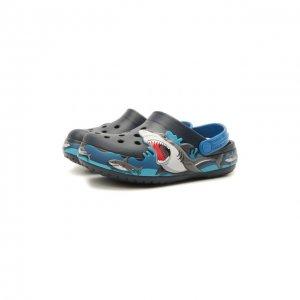 Сабо Shark Lights Crocs. Цвет: чёрный