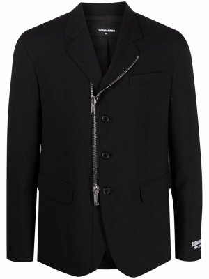 Пиджак на молнии Dsquared2. Цвет: черный