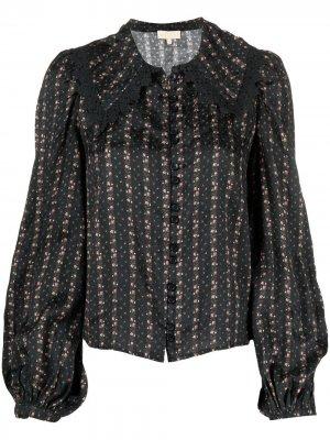 Жаккардовая рубашка с вышивкой byTiMo. Цвет: черный