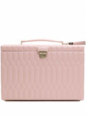 Большая шкатулка для украшений Caroline WOLF. Цвет: розовый