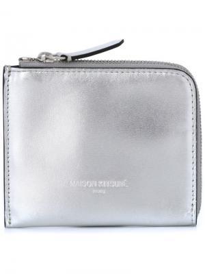 Metallic zip wallet Maison Kitsuné. Цвет: металлический
