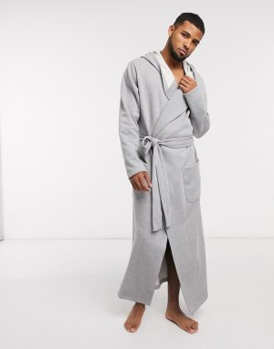 Серый ультрамягкий трикотажный халат ASOS DESIGN