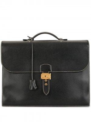 Портфель Sac A Depeche 38 2001-го года Hermès. Цвет: черный