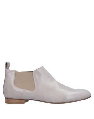 Полусапоги и высокие ботинки LORENZO MASIERO. Цвет: светло-серый
