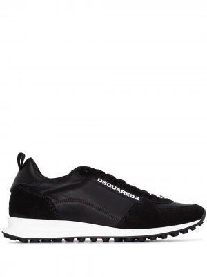Кроссовки на шнуровке Dsquared2. Цвет: черный