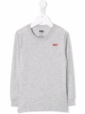 Levis Kids logo-patch crew neck sweatshirt Levi's. Цвет: серый
