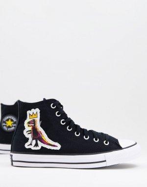 Черные высокие кеды x Jean-Michel Basquiat Chuck Taylor All Star-Черный цвет Converse