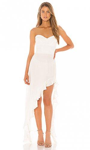 Вечернее платье amalia Amanda Uprichard. Цвет: белый